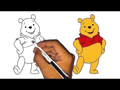 كيف ترسم دبدوب الدب ويني تعليم الرسم للأطفال