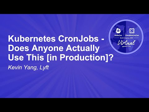 Image thumbnail for talk Kubernetes CronJobs - Does Anyone Actually Use This [in Production]?