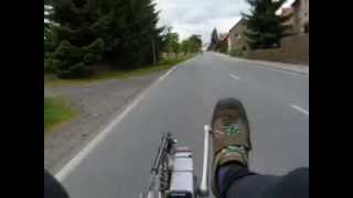 preview picture of video 'Recumbent bike BTB tandem'