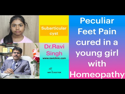 Peculiar Feet Pain cured in a young girl with Homeopath