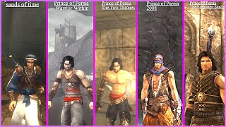Prince of Persia The Sands of Time vs. Warrior Within vs Pop 2008 vs The Forgotten Sands  Comparison