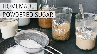 how to make icing with regular sugar and milk