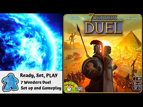 Ready, Set, PLAY - 7 Wonders Duel Setup and Gameplay