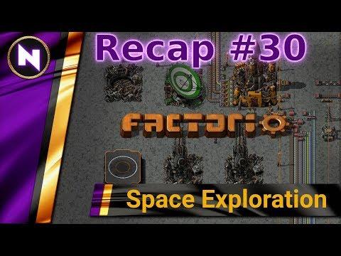 Factorio Space Exploration - Day 30 Recap - ORBITAL STATION