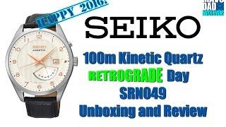Great Dress Watch! | Seiko 100m Kinetic Quartz Retrograde Day SRN049 Unbox & Review