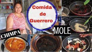 Como hacer  Mole y Chimpa de Guerrero (Pipián) + su receta del pozole -Vlog