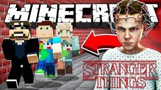 Minecraft: STRANGER THINGS KILLER RUN | MODDED MINI GAME!