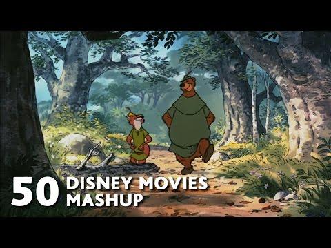 Un mashup con 50 peliculas de Disney 1