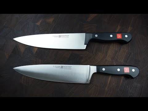 Wusthof Forged vs Stamped Knives (Classic vs Gourmet)