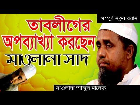 তাবলীগের ভুল ব্যাখ্যা করছেন মাওলানা সাদ কান্ধলভী। Mufti Abdul Malek New Waz 2019 I