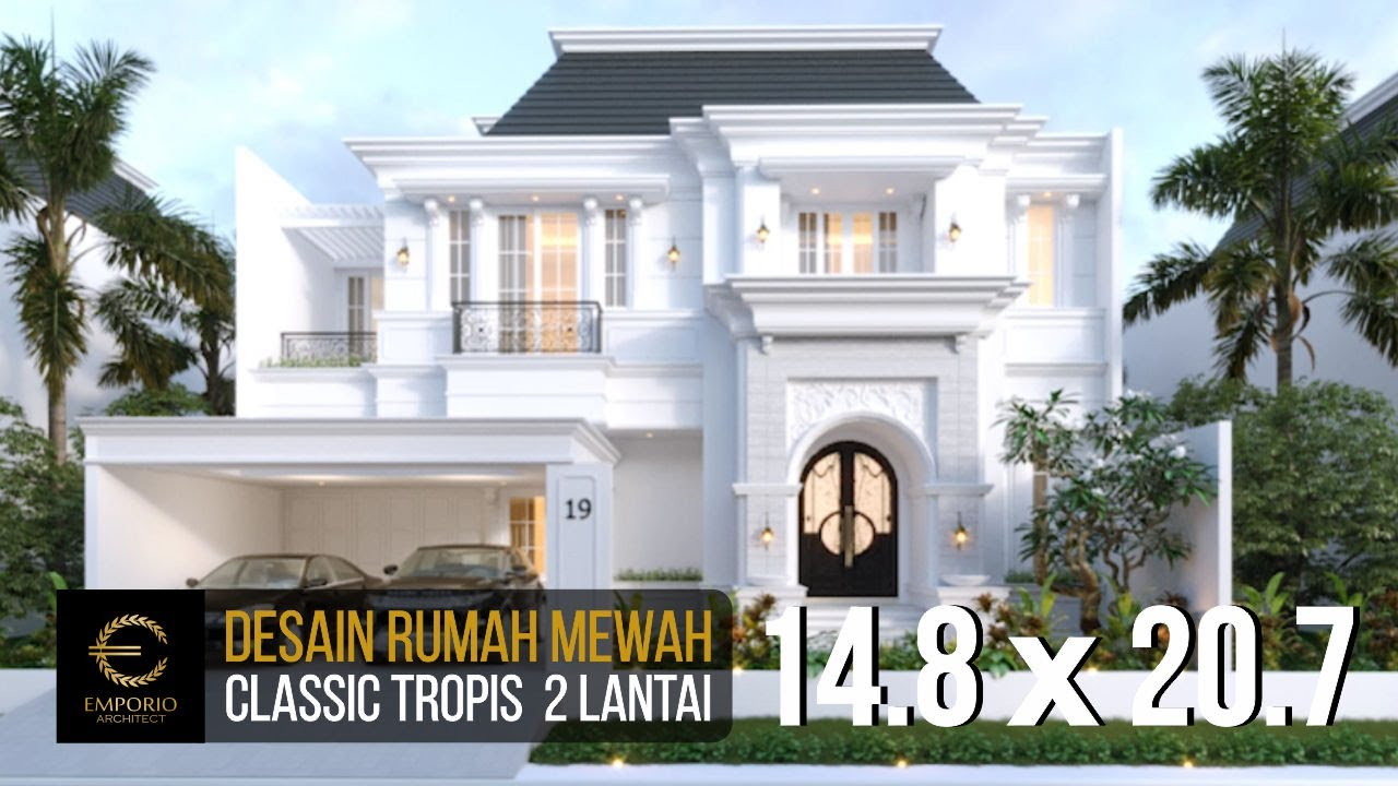 Video 3D Desain Rumah Classic 2 Lantai Bapak A di Bintaro, Jakarta
