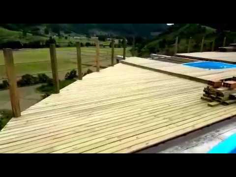 Construção de Deck e edícula em Alfredo Wagner / SC