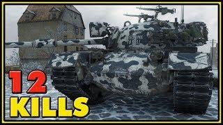 M48A5 Patton - 12 Kills - 2 vs 8 - World of Tanks Gameplay