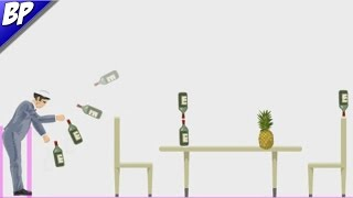 Bottle Flip Challenge In Happy Wheels! (Funny Moments!)