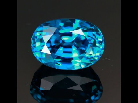 Blue Zircon with Extreme Deep Color 13.18 Carats