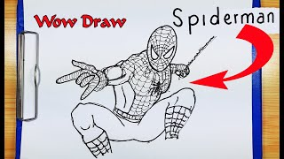 How To Draw Spider Man | How to turn words SPIDERMAN into cartoon spiderman avengers marvel