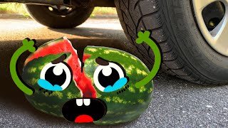 ASMR Crushing Crunchy & Soft Things by Car! - EXPERIMENT:  PEPPERS VS CAR