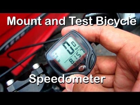 Video memasang dan mencuba speedometer/odometer murah pada basikal