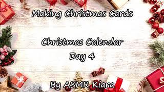 ASMR 🎁 Making Christmas Cards 🎁 Girlfriend 🎁 Christmas Calendar 🎁Day 4