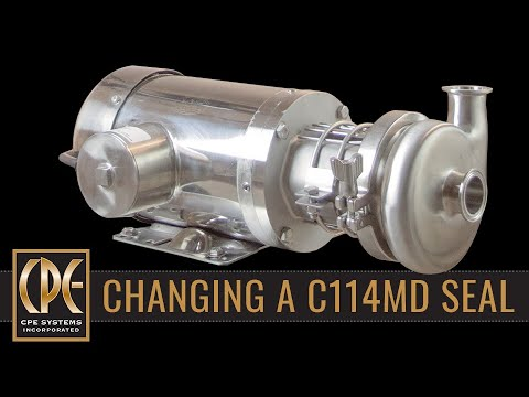 How to change the seal and set the drive collar on a C114 Centrifugal Pump
