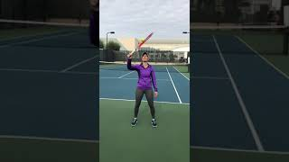 Tennis Trick shot - Ball attached to strings