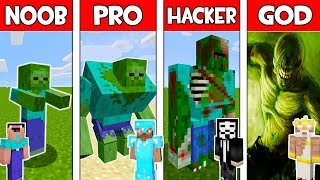 Minecraft - NOOB vs PRO vs HACKER vs GOD : ZOMBIE MUTANT in Minecraft ! AVM SHORTS Animation