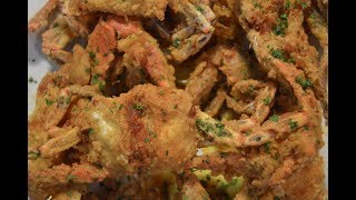 deep fried blue crab
