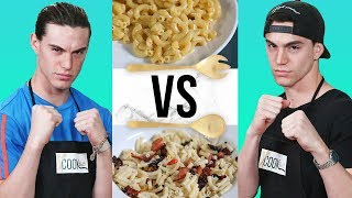 MAC N CHEESE CHALLENGE?! | COOK THAT w/ Esparza Twins