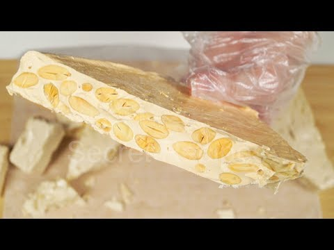 Испанский туррон из 4 ингредиентов. Твердая нуга | Almond Turron