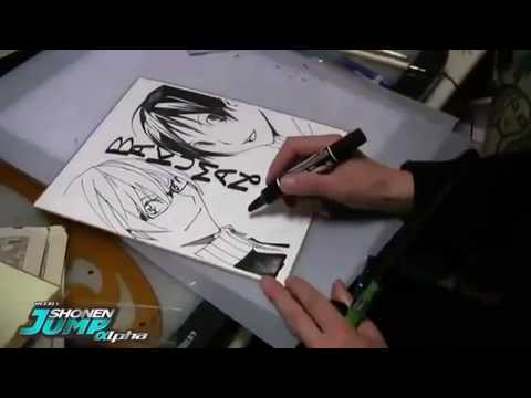 Cùng xem nét vẽ của các t/g manga nổi tiếng khi họ vẽ live nào!!!!!