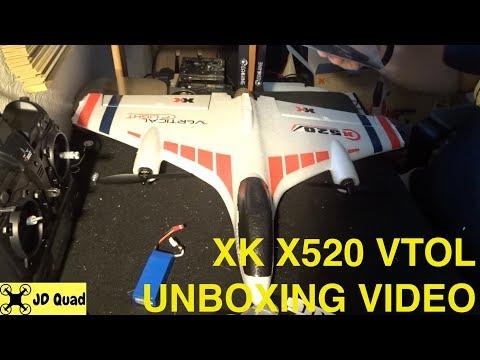 XK X520 VTOL Plane Unboxing Video - Courtesy of Banggood