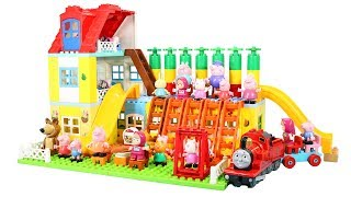 Lego Duplo House Construction Sets - Peppa Pig House With Water Slide Creations Toys For Kids #7