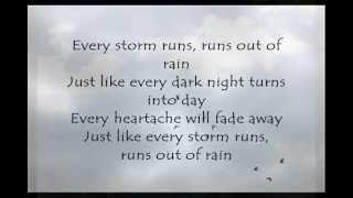 Every Storm (Runs out of Rain); Gary Allan [ON-SCREEN LYRICS]