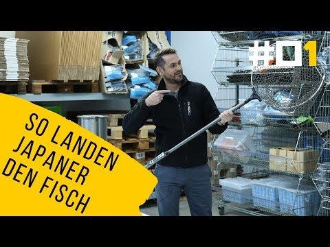 Kescher aus Japan der mit einer Hand ausgefaltet und verlängert werden kann. Test in diesem Video!