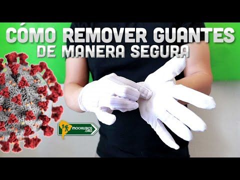 Cómo remover guantes de manera segura  - Higiene de las manos
