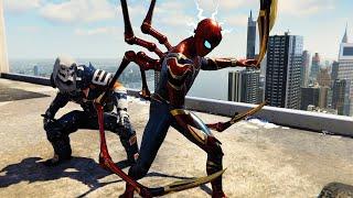 Spider-Man Vs Taskmaster At Avengers Tower (Spider Man PS4)