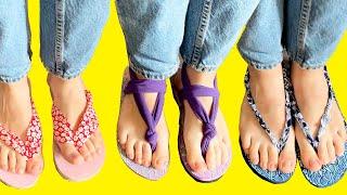 DIY Flip-flop Making Tutorial / How To Make Flip Flops DIY /TRANSFORM YOUR CLOTHES