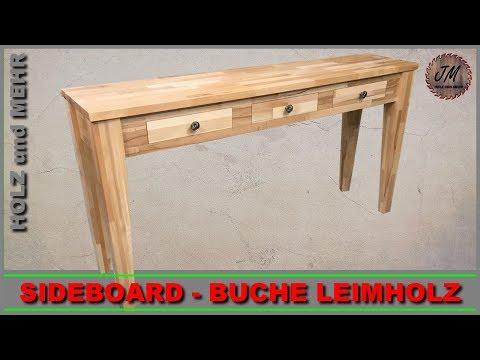 Sideboard selber bauen mit Flachdübel Verbindung