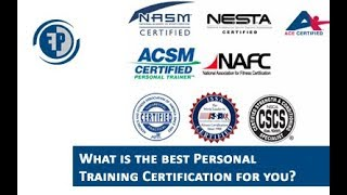 Best Personal training certification | Which one should YOU get?