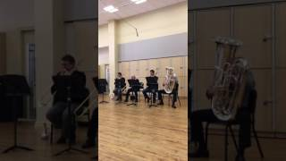 New York Philharmonic low brass section