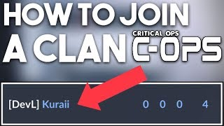 Critical Ops - How to join a Clan in Critical Ops 0.9.0