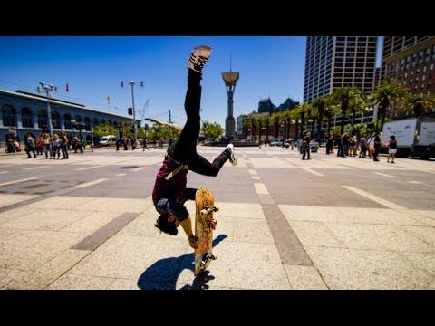 Скейтборд. Паркур на улицах Сан-Франциско!