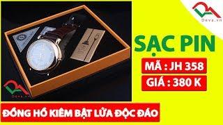 Bật lửa đồng hồ sạc điện dây da JH 358 | Deva.vn | Giá 380.000 Ñ