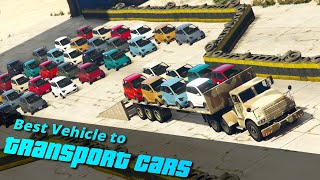 GTA V Which is the Best Vehicle to transport cars | Truck, Plane or Helicopter