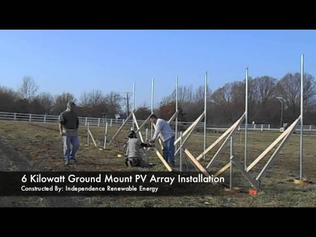 Ground mount installation video