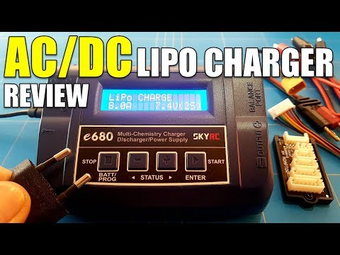 SkyRc e680 AC/DC LIPO CHARGER REVIEW (GREAT FOR CHARGING AT HOME)