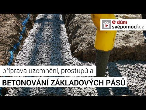 Příprava prostupů pro kabely a potrubí, ukládání zemnícího pásku a betonování základů
