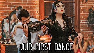 Safiya & Tyler's First Dance To The Addams Family Tango thumbnail
