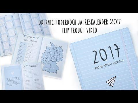 Odernichtoderdoch Jahreskalender 2017 | Flip Trough