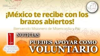 Te invitamos a ser voluntario en esta Visita Apostólica